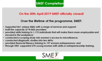 SMEF programme completed!
